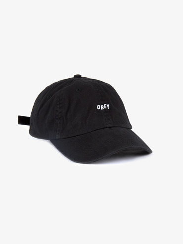 Obey Jumble Bar 6 Panel Cap - Black