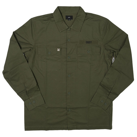 Obey Mission Military Shirt - Light Army