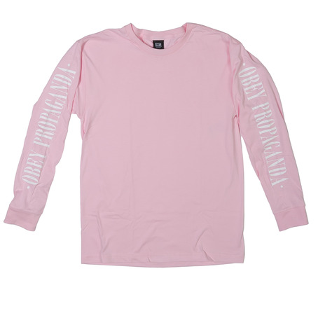 Obey New Times Propaganda Long Sleeve - Pink