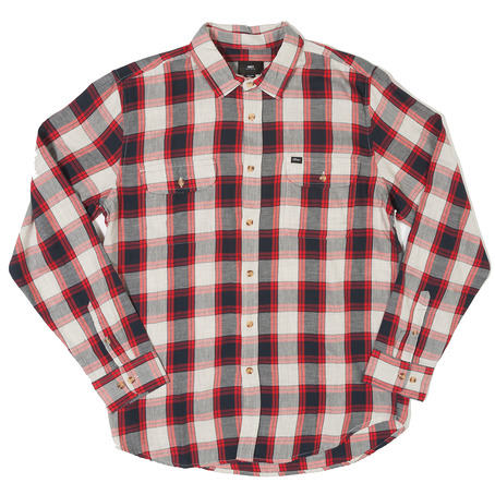 Obey Ridley Shirt - Navy/Red