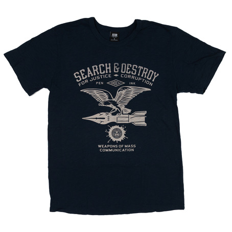 Obey Search & Destroy Premium T-Shirt - Navy