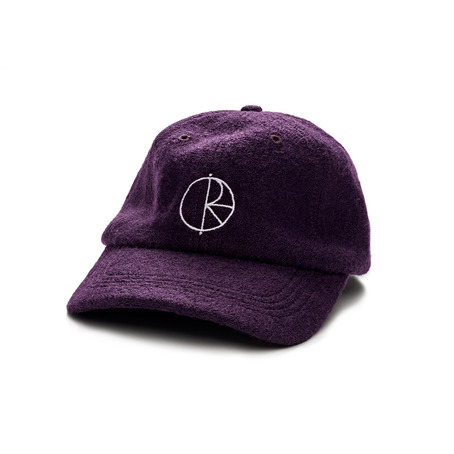 Polar Boiled Wool Cap - Aubergine