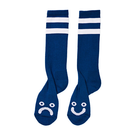 Polar Happy Sad Socks - 80's Blue