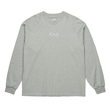 Polar Skate Co Default Long Sleeve - Heather Grey