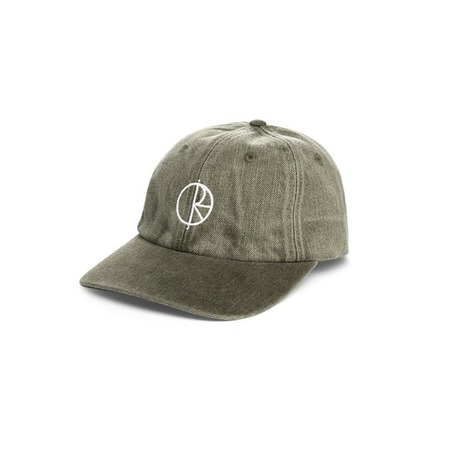 POLAR SKATE CO DENIM CAP - ARMY GREEN