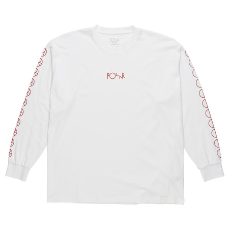 Polar Skate Co Racing Long Sleeve - White