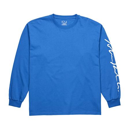 Polar Skate Co Signature Longsleeve - 80's Blue
