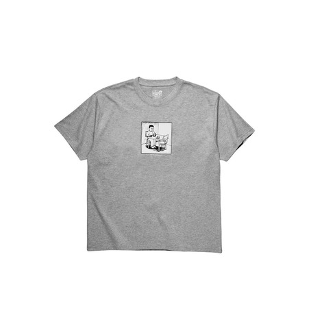 POLAR SKATE CO SPILLED MILK T-SHIRT - HEATHER GREY