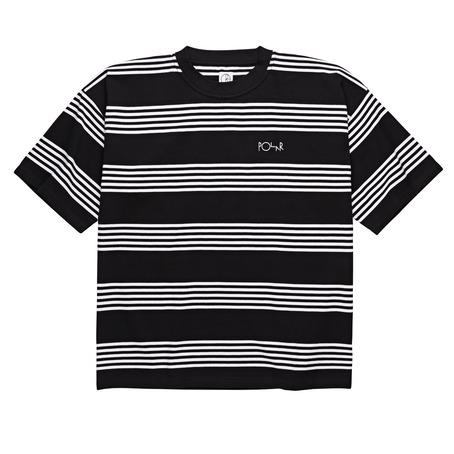 Polar Skate Co Striped Surf Tee - Black/White