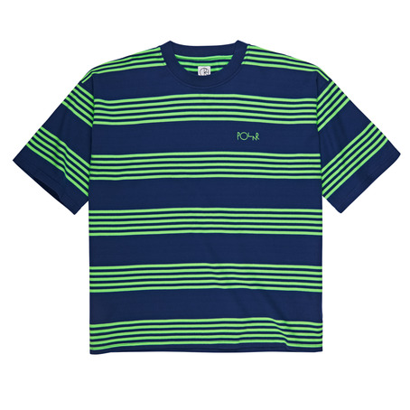 Polar Skate Co Striped Surf Tee - Blue/Green