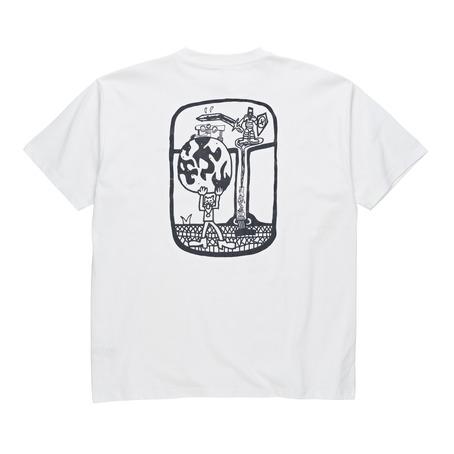 Polar Skate Co World Ending T-Shirt - White