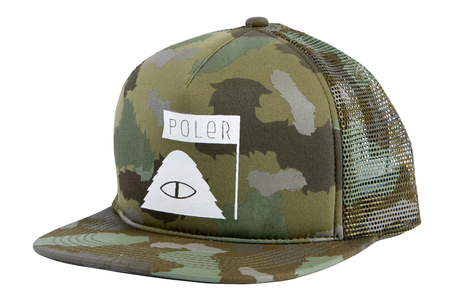 Poler Stuff Summit Mesh Trucker Cap - Furry Green Camo