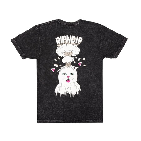 RIP N DIP MIND BLOWN T-SHIRT - BLACK MINERAL WASH