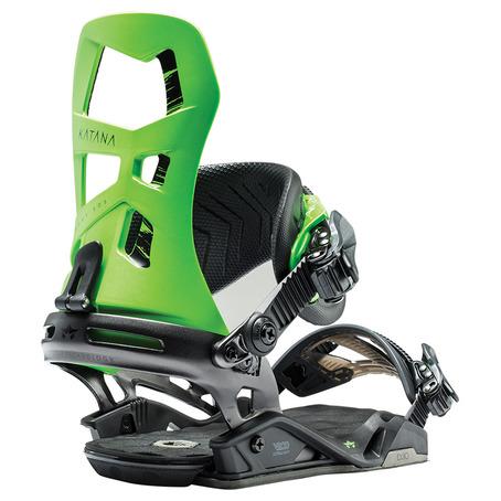 Rome Katana Snowboard Bindings - Lime Green