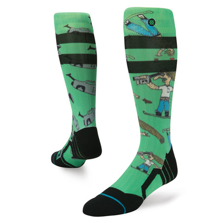 Stance Dad Cam Snowboard Socks - Green