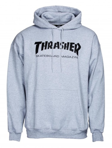 Thrasher Mag Logo Hood - Heather Grey