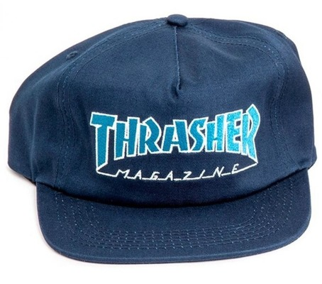 Thrasher Outlined Cap - Navy/Grey