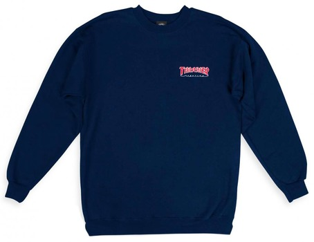 Thrasher Outlined Crew Sweat - Navy