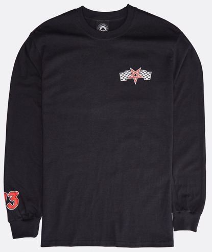 THRASHER RACING LONG SLEEVE - BLACK