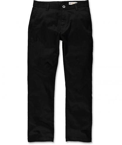 VOLCOM FRICKIN MODERN STRETCH CHINO PANT - BLACK