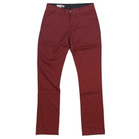 Volcom Frozen Chinos - Burgundy - Volcom Chino Pants