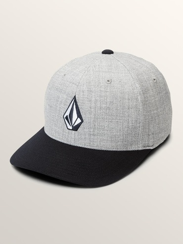 VOLCOM FULL STONE HEATHER XFIT CAP - NAVY HEATHER