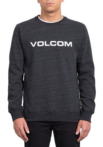 VOLCOM IMPRINT CREW SWEATSHIRT - BLACK
