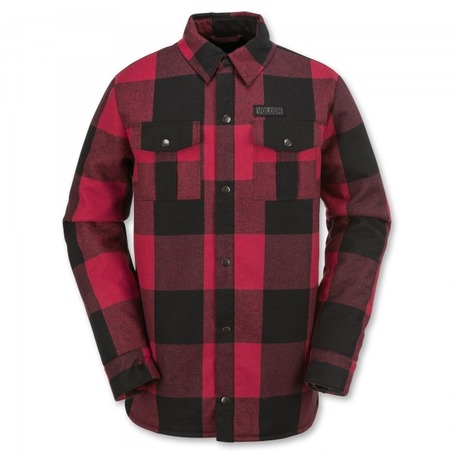 Volcom Pat Moore Sherpa Jacket - Red Plaid