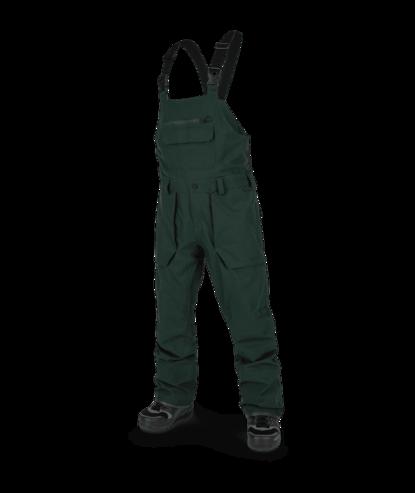 Volcom Roan Bib Pant - Dark Green