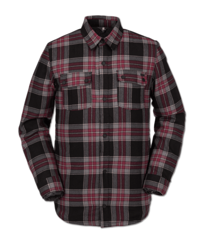 Volcom Sherpa Flannel Jacket - Red