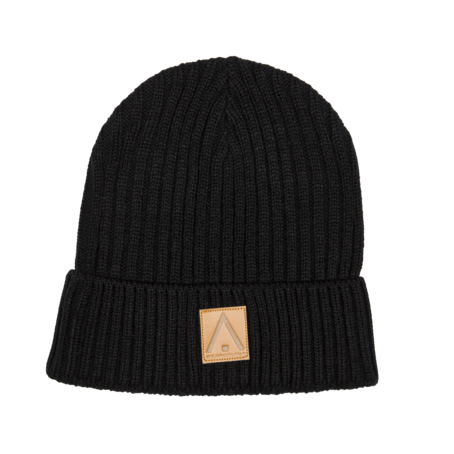 Wear Colour Badge Beanie - Black