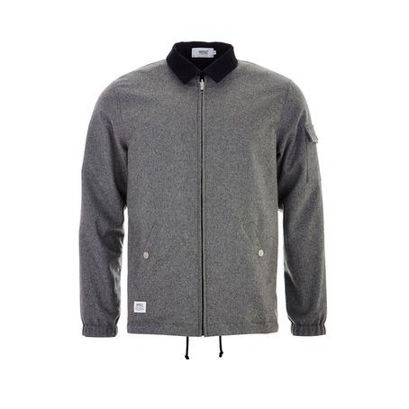 WESC Coach Deluxe Jacket - Black/Grey Melange