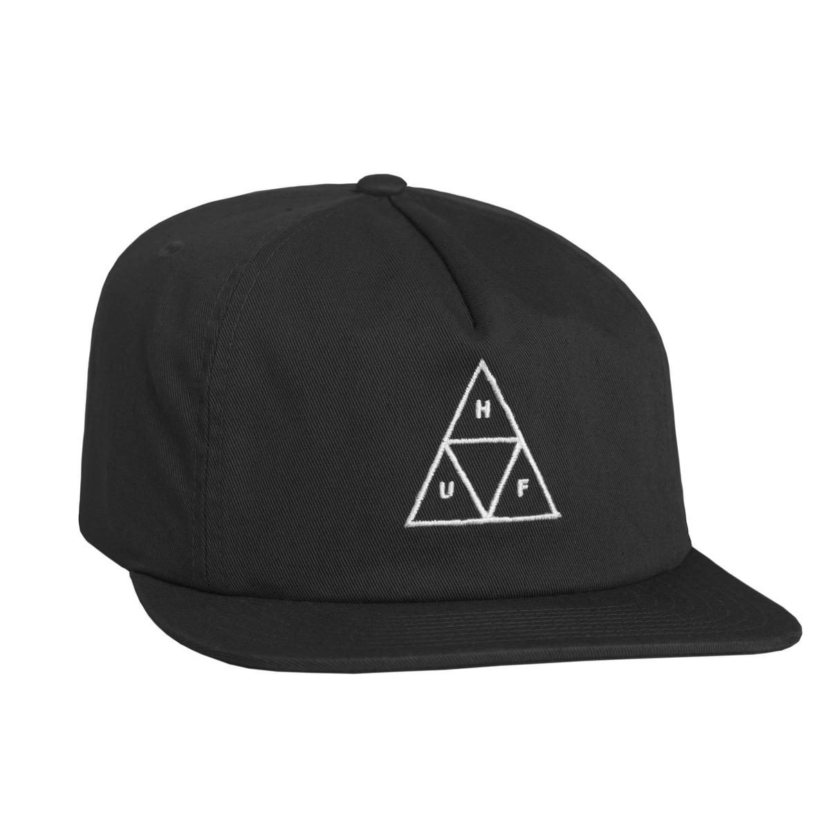... discount 50abe 52b79 Huf Wash Triple Triangle Snapback Hat - Black ... ee9902d21e85