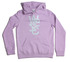 WOMANS WESC LOGO HOOD PINK