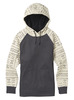 Burton Womens Crown Hood Pull Over - Canvas Bogolanfini / True Black Heather Thumbnail