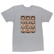 Obey Nine Faces Premium T-Shirt - Heather Grey Thumbnail