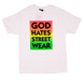 The Hundreds God Hates Streetwear T-Shirt - White Thumbnail