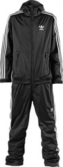 Adidas Firebird Onesie - Black/White