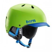 View the Bern Watts HardHat Helmet - Neon Green/Blue Brim - Berns HardHat Helmet from the Men clothing range online today from Boarderline