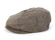 View the Brixton Brood Hat - Grey/Gold Tweed from the  clothing range online today from Boarderline