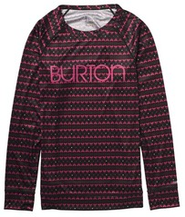 View the Burton Womens Lightweight Crew - True Black Flamingo from the Base Layers clothing range online today from Boarderline