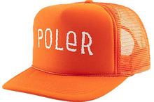 View the Poler Furry Font Mesh Trucker Cap - Orange from the  clothing range online today from Boarderline