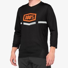 View the 100% Airmatic 3/4 Sleeve Jersey - Black/Orange from the Tops clothing range online today from Boarderline