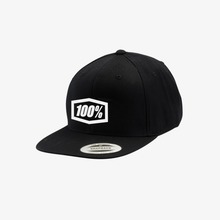 View the 100% ESSENTIAL SNAPBACK CAP YOUTH - BLACK from the Snapbacks, 6 Panel Caps clothing range online today from Boarderline