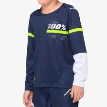 View the 100% R-Core Youth Jersey - Blue/Yellow from the Tops clothing range online today from Boarderline