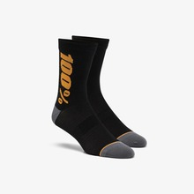 View the 100% Rhythm Merino Performance Socks - Black/Bronze from the Socks clothing range online today from Boarderline