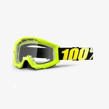 View the 100% STRATA NEON YELLOW GOGGLES - CLEAR LENS from the Goggles clothing range online today from Boarderline