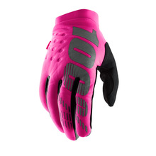 View the 100% Womens Brisker Glove - Black/Neon Pink from the Gloves clothing range online today from Boarderline
