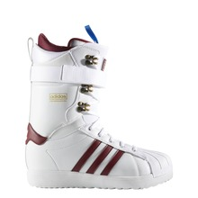View the Adidas Superstar ADV Snowboard Boot - White/Burgundy/Gold Metallic from the Mens Snowboard Boots clothing range online today from Boarderline