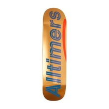 "View the Alltimers Shiny Oranges Logo Deck - 8.3"" from the Decks clothing range online today from Boarderline"